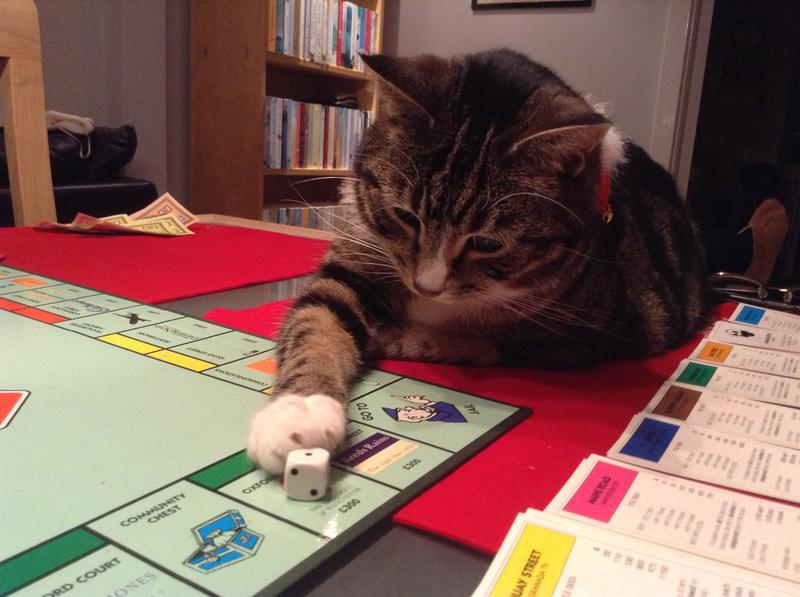 Sox playing Monopoly!