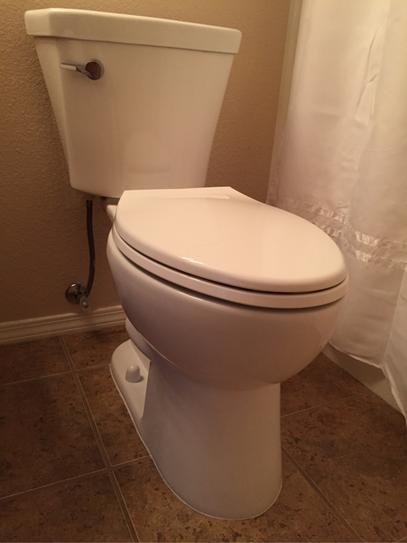 Delta Turner 2-piece 1.28 GPF Single Flush Elongated Toilet in White ...