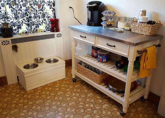 HOMESTYLES Savannah White Kitchen Cart with Stainless Top ...