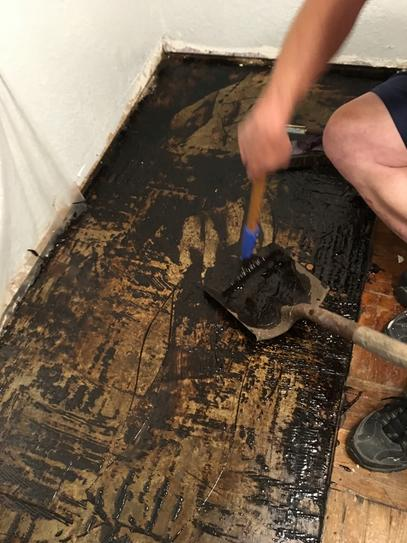 Sentinel Formula Plus Oz Adhesive Remover SPI At The - How to remove tar adhesive from wood floor
