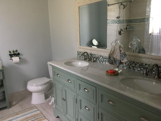 Home Decorators Collection Sadie 67 In. Double Vanity In Antique Blue With  Natural Marble Vanity Top In White With White Basin 1666700350 At The Home  Depot ...
