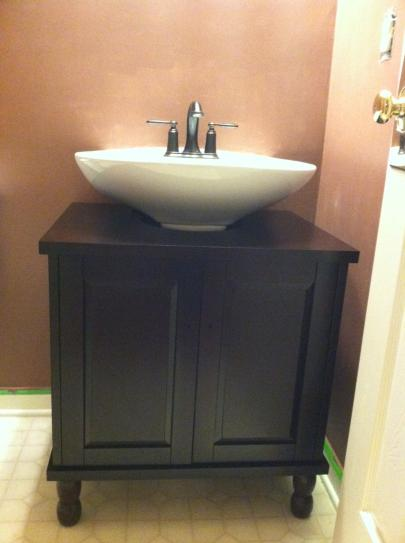 SinkWrap 25 in. W x 20 in. D Vanity Cabinet Only for ...