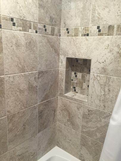 MARAZZI Travisano Trevi And Bernini In X In Glass Accent - Decorative tile trim in shower