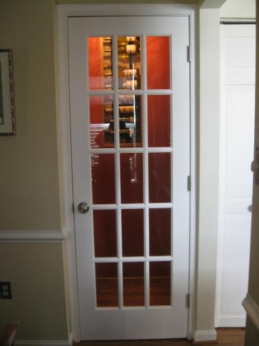 Builders Choice 30 in. x 80 in. 30 in. Clear Pine Wood 15-Lite ...