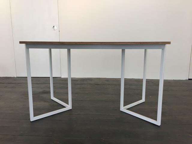 NIC Medium glass and white metal desk | Buy now at Habitat UK