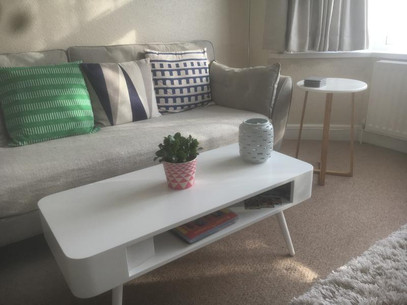 Bumble White Coffee Table With Storage Shelf Buy Now At