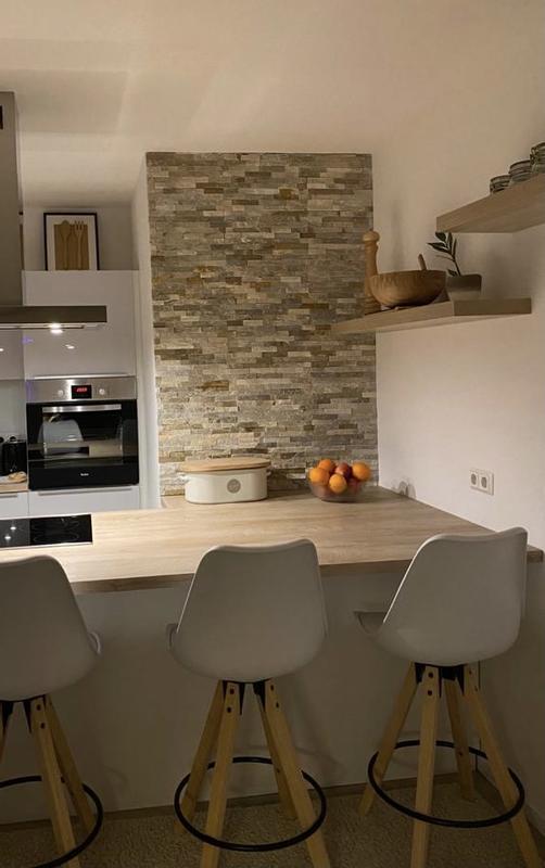 Marmor Wandverblender Naturstein Bad Küche grau Edelstahl 40-3D251 Matte