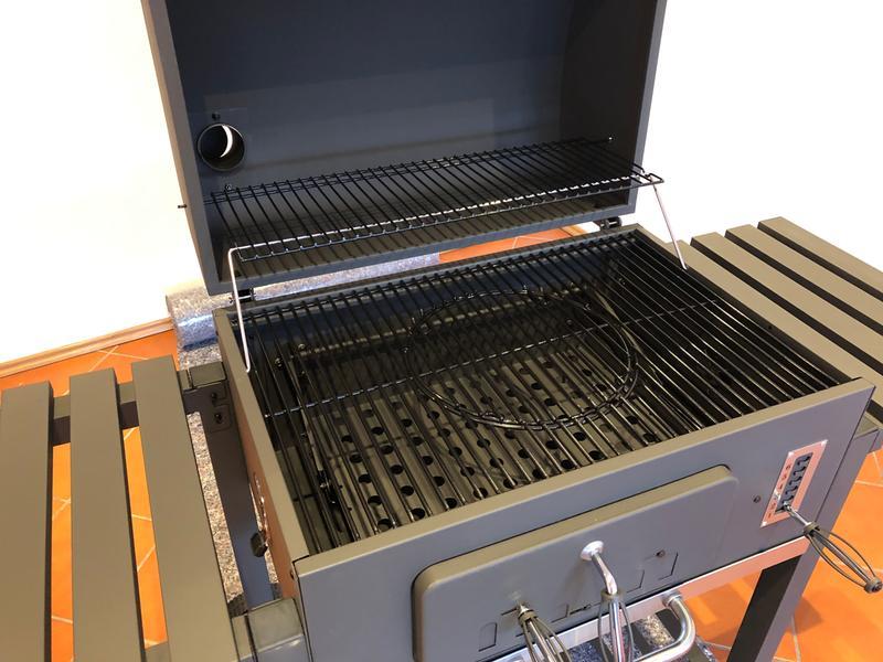 Tepro Toronto Xxl Holzkohlegrill Preisvergleich : Tepro holzkohle grillwagen toronto xxl mit höhenverstellbarer