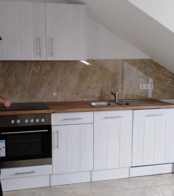 Respekta Premium Küchenzeile Landhaus 220 cm Lärche Weiß ...