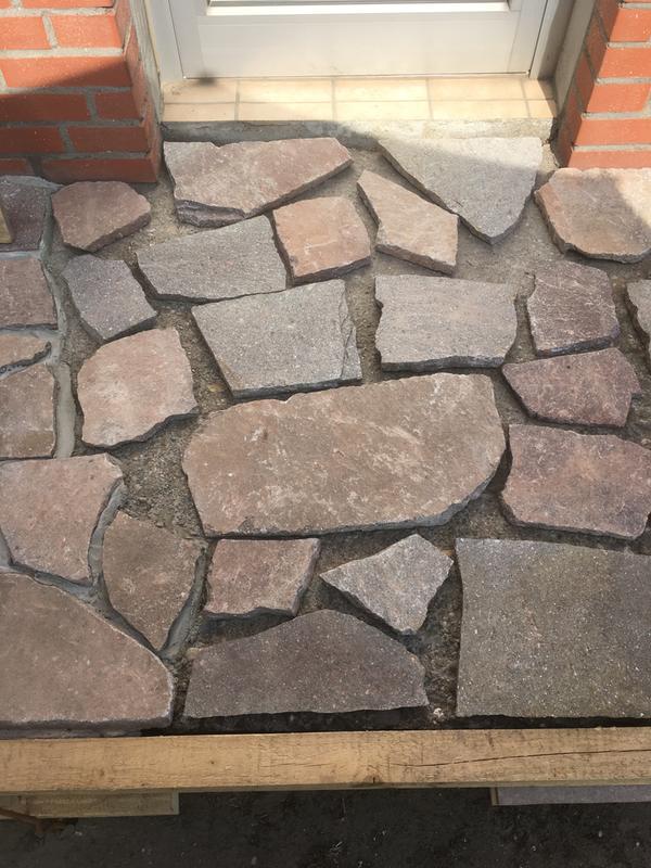 5m² Naturstein Terrassenplatten Porphyr Gehwegplatten Rot Braun 3-5cm