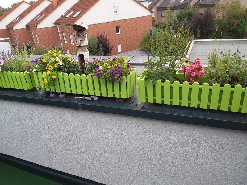 Emsa Landhaus Kasten Aqua Comfort Blumen Blumenkasten Balkonkasten Gelb 50 cm