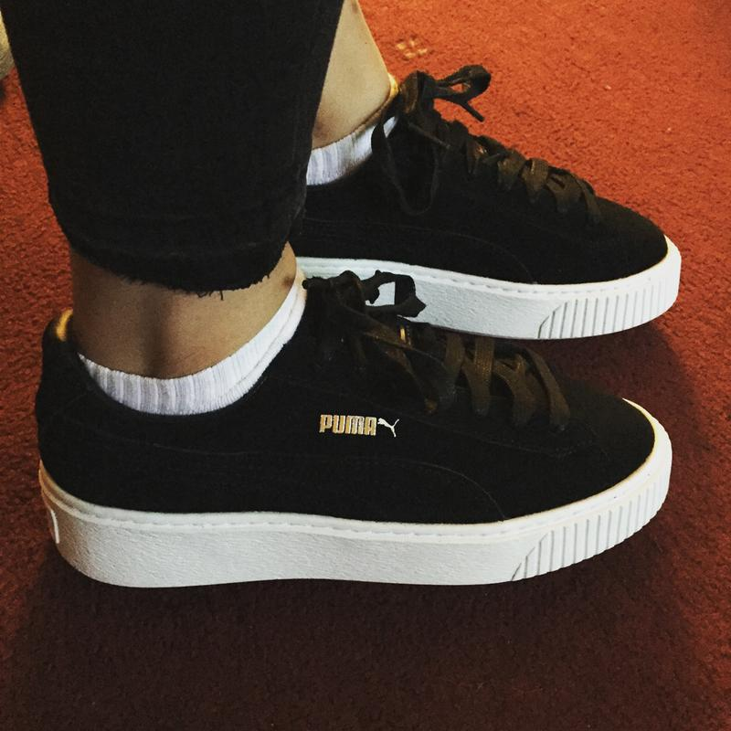 Review photo 1. Originally posted on Puma Suede Platform BLACK WHITE 6a5ca96a7