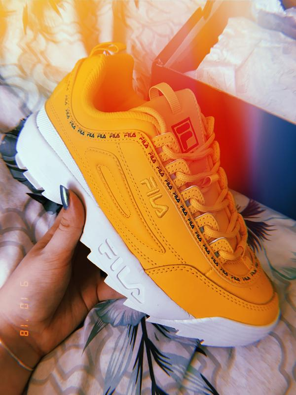 2985aeae68513 Straight out the box. Originally posted on Fila Disruptor Ii CITRUS FILA  NAVY DRY GRASS