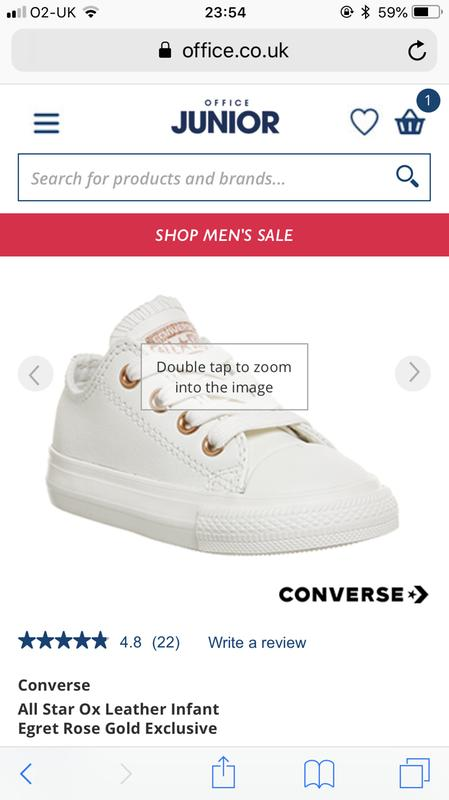 009bc27d7ec5 Review photo 1. Originally posted on Converse All Star Ox Leather Infant  EGRET ROSE GOLD EXCLUSIVE