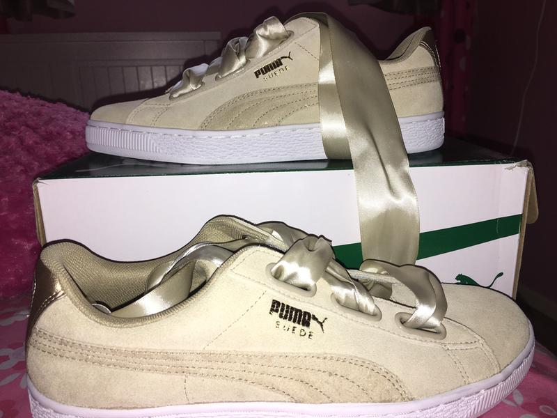 093698e7381 Puma Suede Heart Safari Metallic Safari - Hers trainers