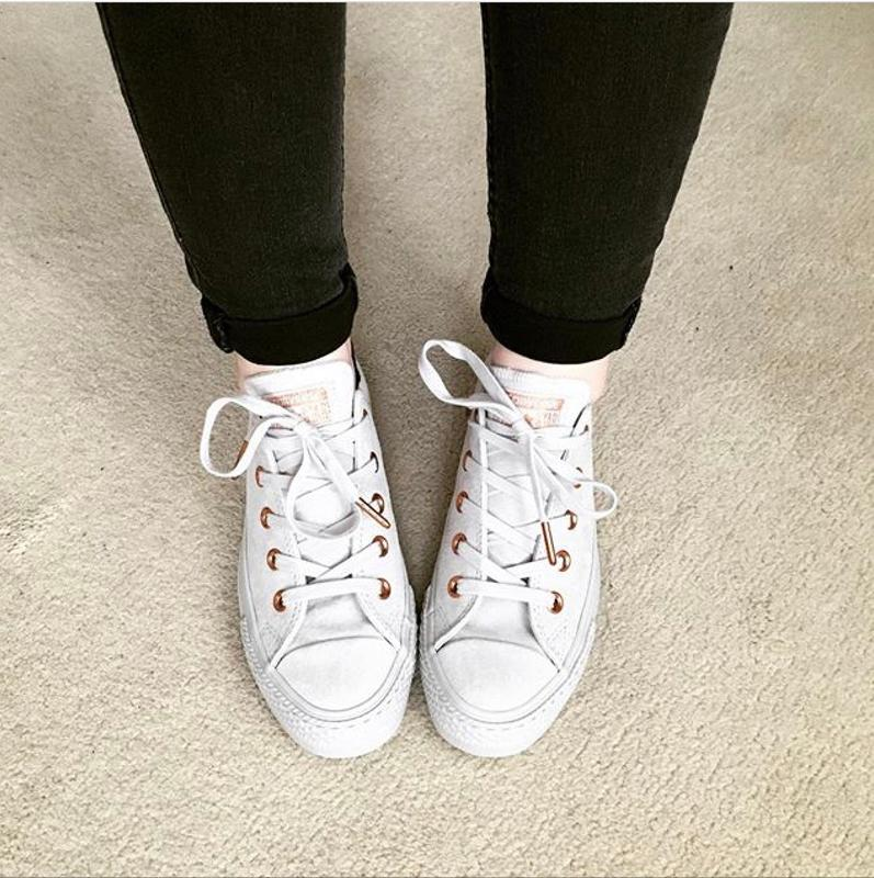 7c9a87c7bd9749 Converse All Star Low Leather Trainers Mouse Vapour Pink Exclusive ...
