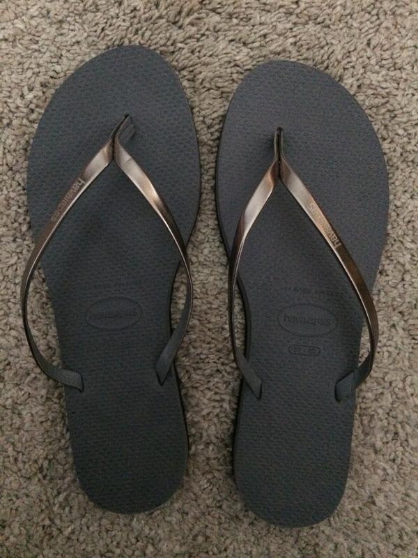 3207e5ddc2595 Havaianas Slim You Metallic Flip Flops Steel Grey - Sandals