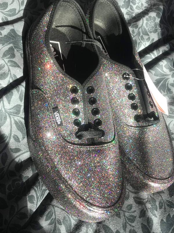 d7f5ecce9c1e Review photo 1. Originally posted on Vans Authentic BLACK BLACK RAINBOW  GLITTER