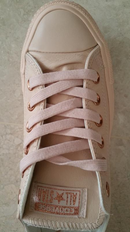 91c794b29b3 Converse All Star Low Leather Pastel Rose Tan Rose Gold - Hers trainers