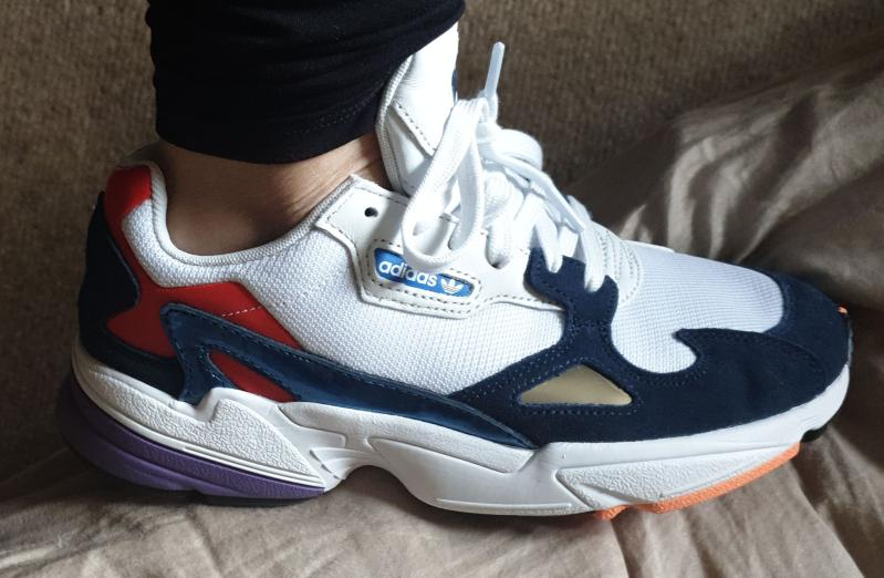 best service 4c88c 47376 Falcons. Originally posted on adidas Falcon CRYSTAL WHITE COLLEGIATE NAVY  RED