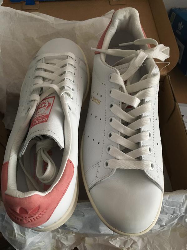 a0b88406240c15 Adidas Stan Smith White Ray Pink - Unisex Sports