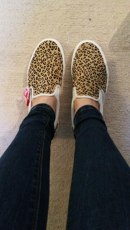 f6d1d099c1bb Review photo 1. Originally posted on Vans Classic Slip On LEOPARD TAFFY  MARSHMELLOW EXCLUSIVE