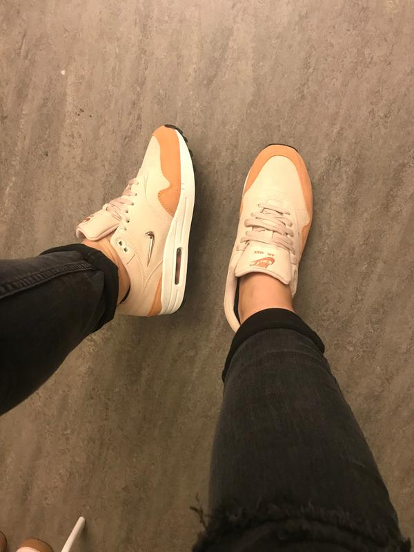 bfffb30f9ae7f Review photo 1. Originally posted on Nike Air Max 1 Jewel GUAVA ICE BRONZE  WHITE F