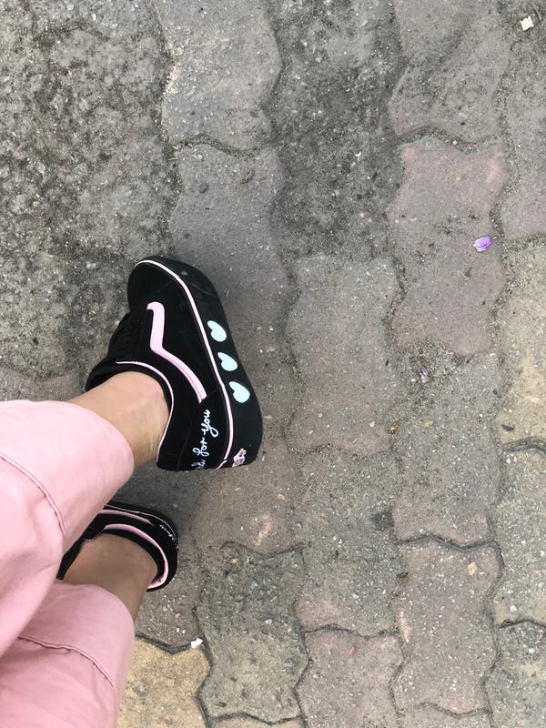 18133d995d74 Vans x Lazy Oaf. Originally posted on Vans Old Skool Platform LAZY OAF  BLACK BLACK