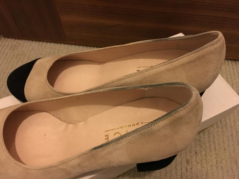 4a57ae4803d ... shoes with black stains. Originally posted on Office Madison Toe Cap  Block Heel NUDE SUEDE ...