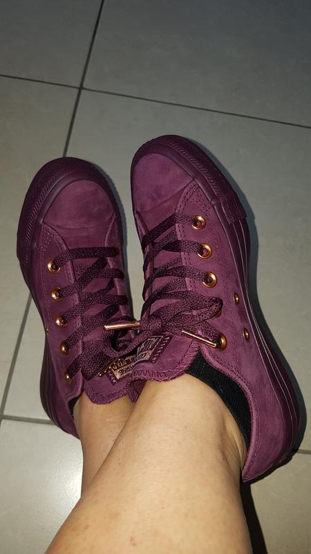 fc364eb0ad5d New shoes. Originally posted on Converse All Star Low Leather DARK SANGRIA  ROSE GOLD EXCLUSIVE