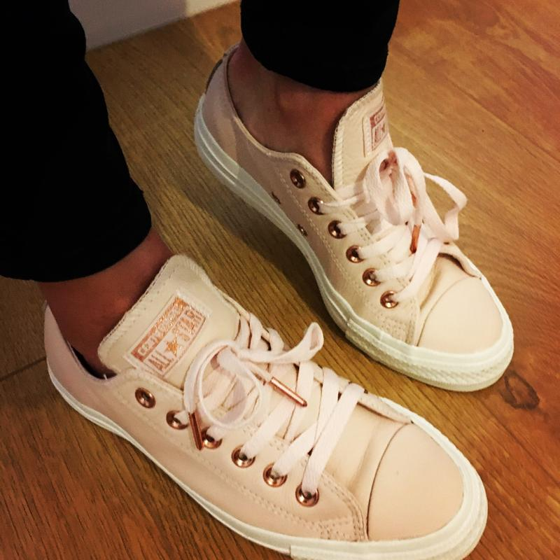 0d0cbb82737b Review photo 1. Originally posted on Converse Allstar Low Lthr EGRET PASTEL  ROSE TAN BLUSH GOLD
