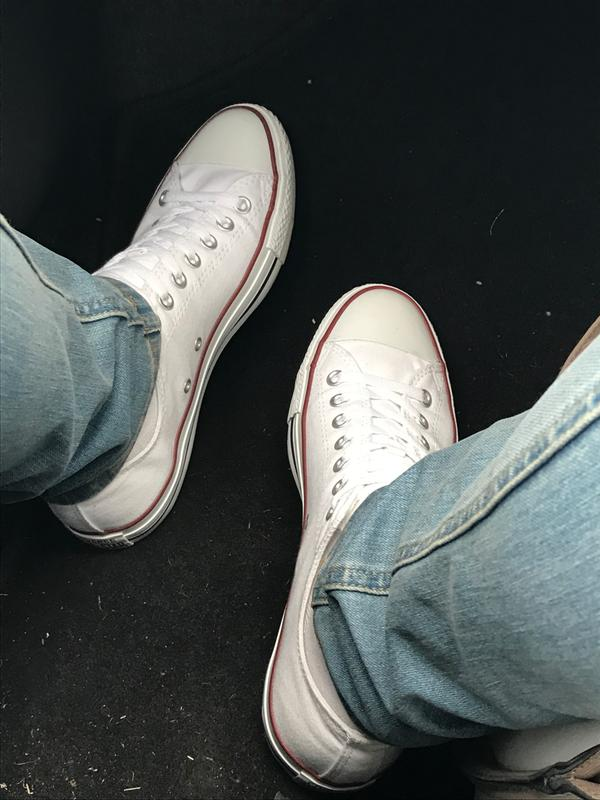 2fa3b9b5954 Review photo 1. Originally posted on Converse All Star Low WHITE CANVAS