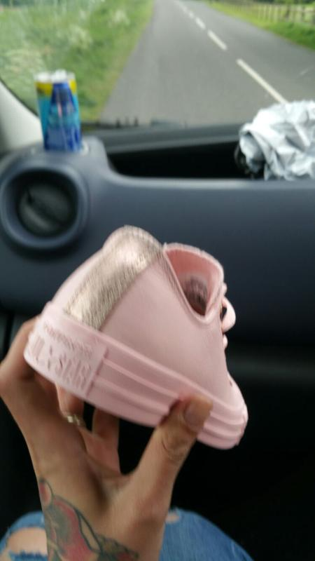Converse All Star Low Leather Trainers Vapour Pink Rose Gold Snake ... 6d7a6feb1