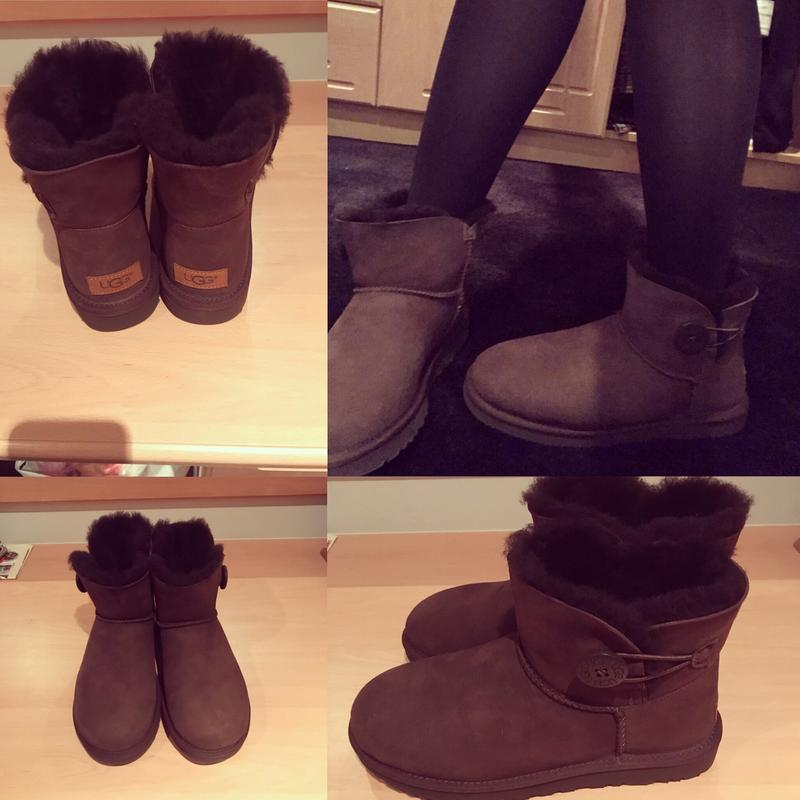 Review photo 1. Originally posted on UGG Mini Bailey Button Ii CHOCOLATE ...
