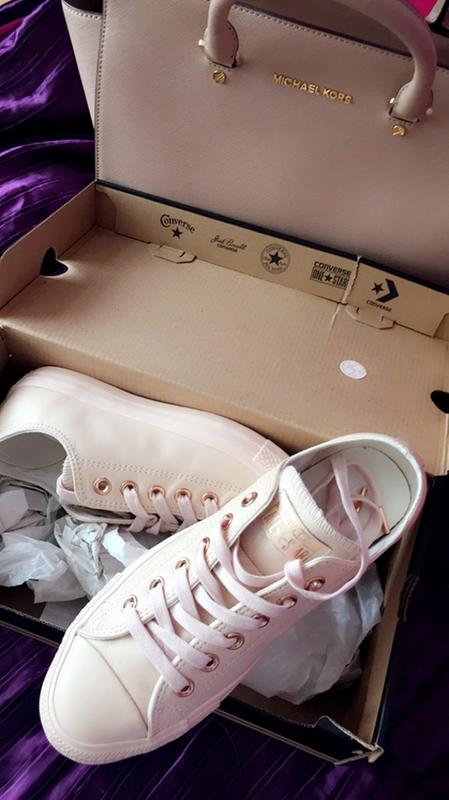 96b6b113208f Review photo 1. Originally posted on Converse Allstar Low Lthr PASTEL ROSE  TAN ROSE GOLD