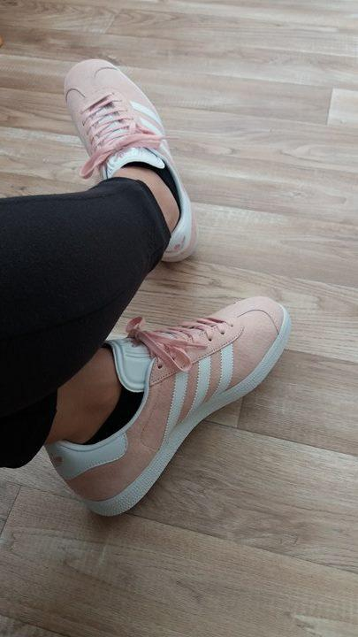 newest b46eb d3418 Review photo 1. Originally posted on Adidas Gazelle VAPOUR PINK WHITE