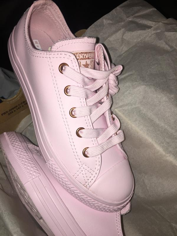878c11f449f9f1 Converse All Star Ox Leather Kids Artic Pink Rose Gold - Unisex