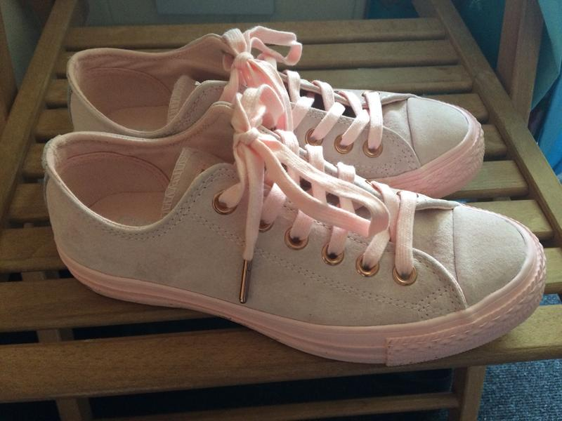 6840bb5b7f5 Converse All Star Low Leather Trainers Vapour Pink Mouse - Hers trainers