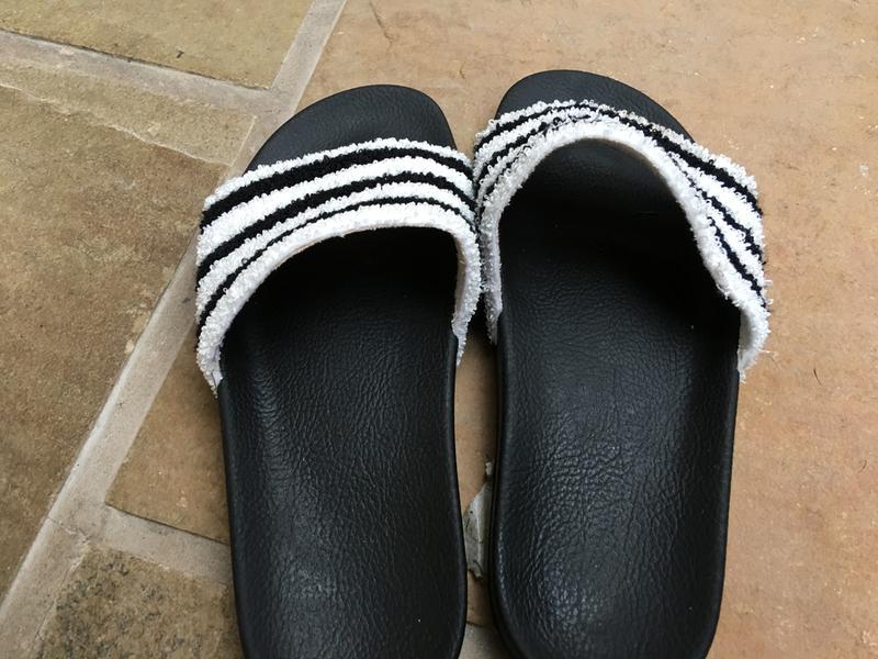 5bf5488ef21b adidas Adilette Sliders Black White Towl - Unisex Sports