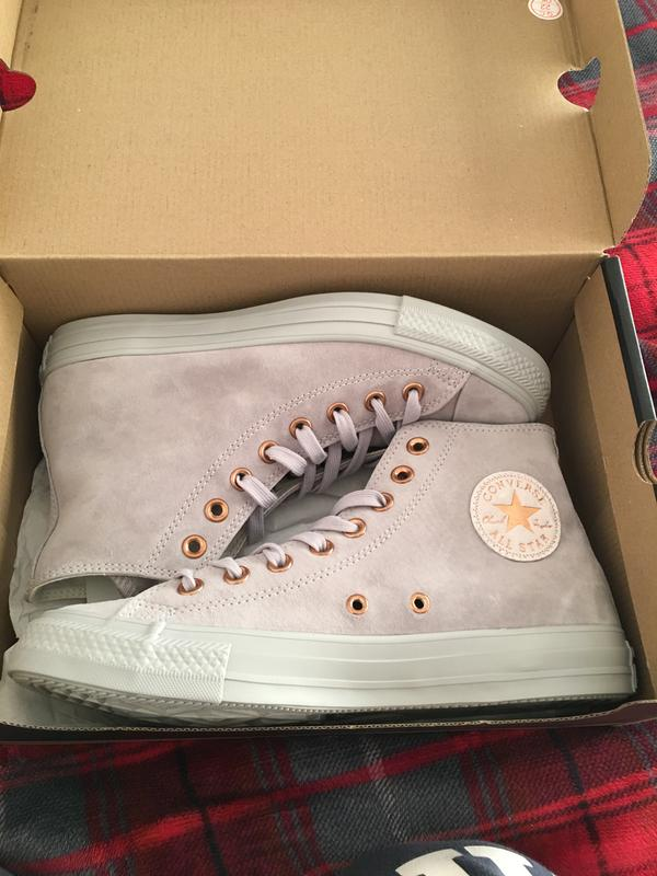 c40a62949f1 Review photo 2. Originally posted on Converse All Star Hi Lthr ASH GREY  ROSE GOLD