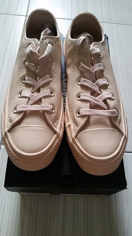 67b946aa8a2b47 Converse All Star Low Leather Ivory Cream Light Gold Exclusive ...