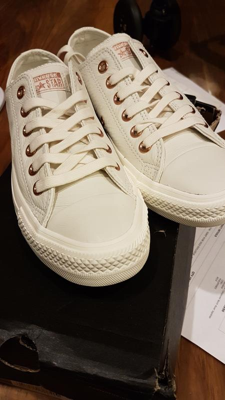 a3c89dbd6ad9 The day my Converse Holiday Exclusive in Egret Rose Gold arrived!  Originally posted on Converse Allstar Low ...