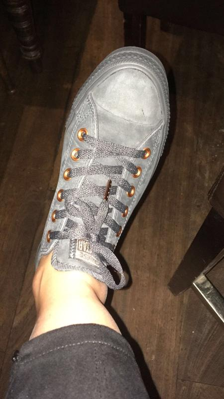 86596d92dad81f Review photo 1. Originally posted on Converse Allstar Low Lthr ALMOST BLACK  ROSE GOLD EXCLUSIVE