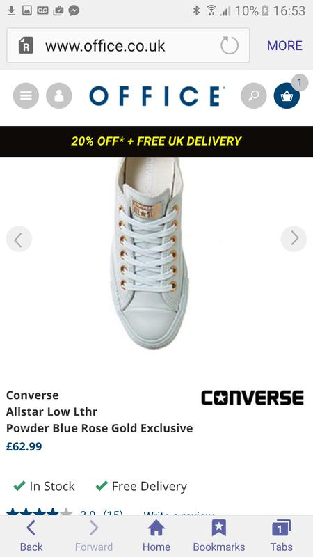 Love them. Originally posted on Converse Allstar Low Lthr POWDER BLUE ROSE  GOLD EXCLUSIVE f9481a8e1