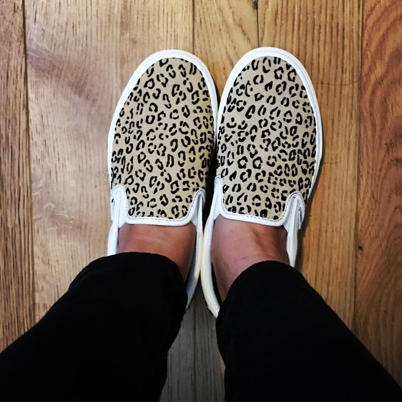20269d95ec20 Love them ❤ . Originally posted on Vans Classic Slip On LEOPARD TAFFY  MARSHMELLOW EXCLUSIVE