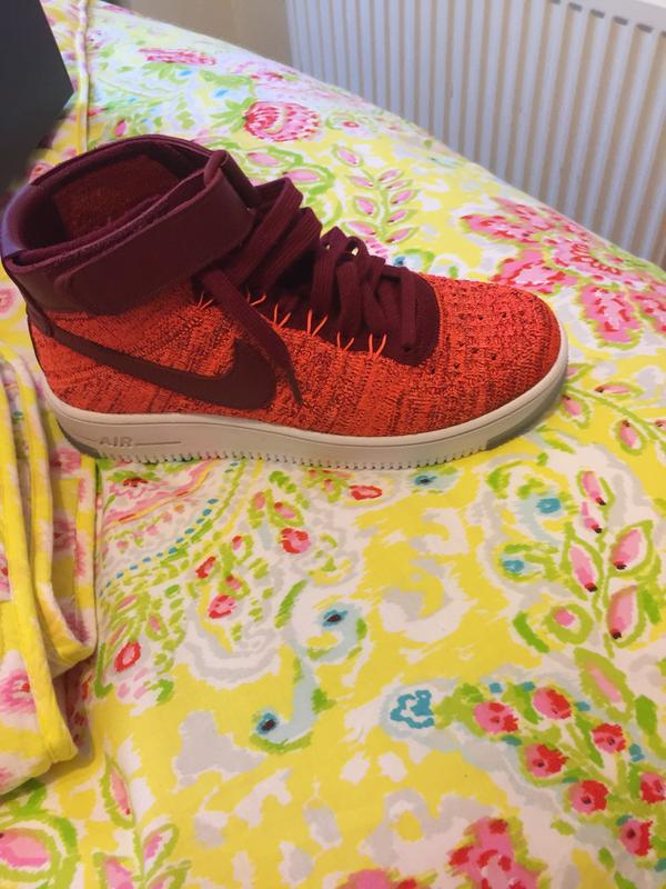 buy online d62a6 93898 My new trainers. Originally posted on Nike Air Force 1 Mid Flyknit TOTAL  CRIMSON TEAM RED