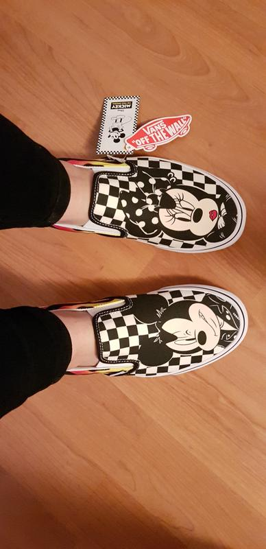 be7249d0fc Review photo 1. Originally posted on Vans Classic Slip On MICKEY AND MINNIE  CHECKER FLAME DISNEY