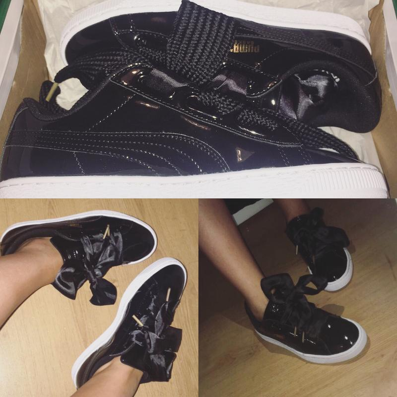 493be2f43da Puma Basket Heart. Originally posted on Puma Basket Heart Trainers BLACK  PATENT