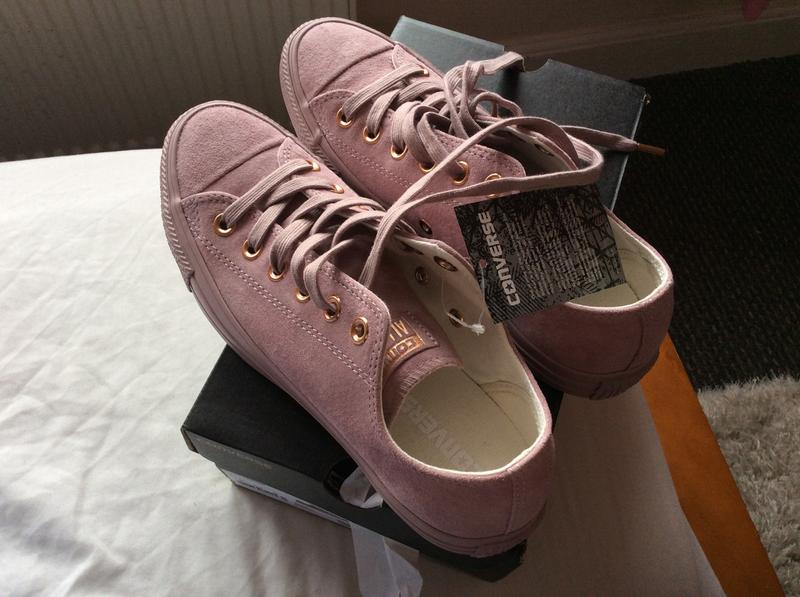 c9adce735f21 Review photo 1. Originally posted on Converse Allstar Low Lthr BURNISHED  LILAC ROSE GOLD