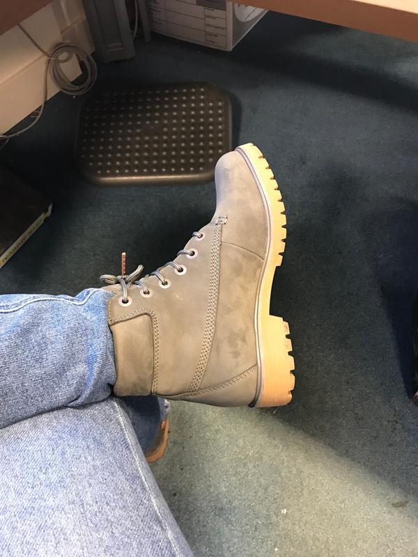 6e055e8f81a Timberland Slim Premium 6 Inch Boots Eiffel Tower Grey Nubuck ...